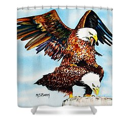 You Ruffle My Feathers Shower Curtain