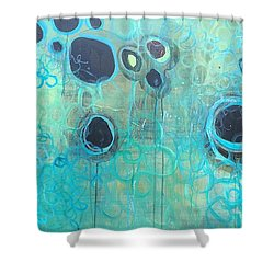 You Said You Wanted To Live By The Ocean Shower Curtain by Laurie Maves ART