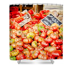 Shower Curtain featuring the photograph You Say Tomato by Jason Smith