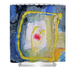 You Touch My Heart Shower Curtain by Amara Dacer