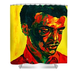 Young African Man Shower Curtain by Carole Spandau