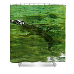 Young Alligator Shower Curtain