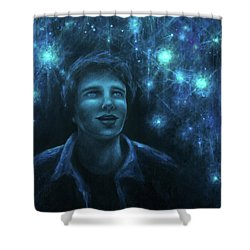 Young Astronomy Shower Curtain
