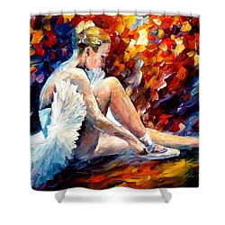 Young Ballerina Shower Curtain by Leonid Afremov