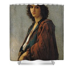 Young Bohemian Serb Shower Curtain by Charles Landelle
