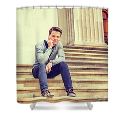 Young College Student 15042515 Shower Curtain