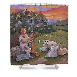 Young David As A Shepherd Shower Curtain
