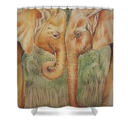 Young Elephants Shower Curtain