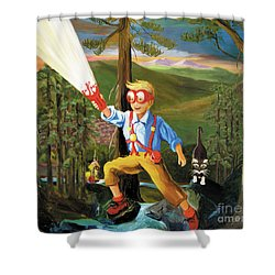 Young Explorer Shower Curtain