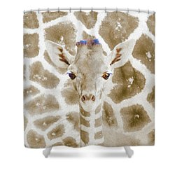 Young Giraffe Shower Curtain