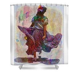 Shower Curtain featuring the photograph Young Girl Dancing by John  Kolenberg