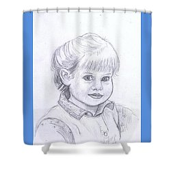 Young Girl Shower Curtain by Francine Heykoop