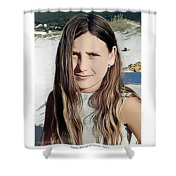 Young Girl, Spain Shower Curtain