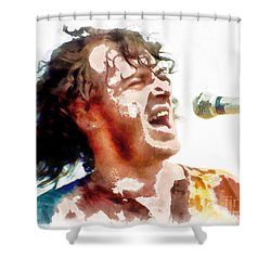Young Joe Cocker Shower Curtain