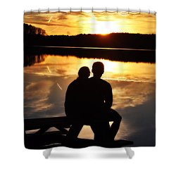 Young Love And Sunsets Shower Curtain