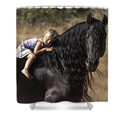 Young Rider Shower Curtain