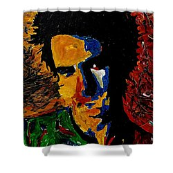 Young Sid Vicious Shower Curtain