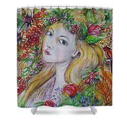 Young Summer  Shower Curtain by Rita Fetisov