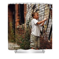 Young Vandal Shower Curtain by Gordon Dean II
