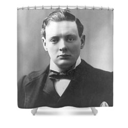 Young Winston Churchill Shower Curtain by War Is Hell Store