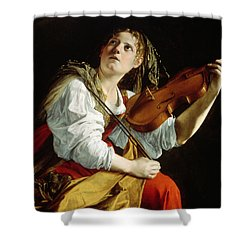 Young Woman With A Violin Shower Curtain