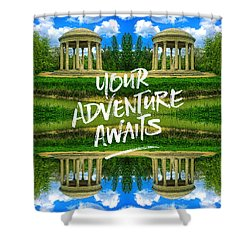 Your Adventure Awaits Temple Of Love Versailles Paris Shower Curtain