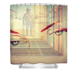 Your Eyes Only Shower Curtain