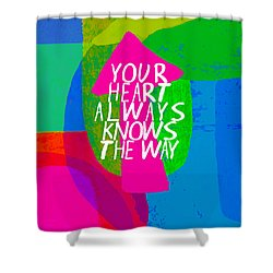 Shower Curtain featuring the painting Your Heart Always Knows The Way by Lisa Weedn