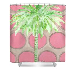 Your Highness Palm Tree Shower Curtain by Kristen Abrahamson