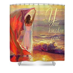 Shower Curtain featuring the digital art Your Kingdom Come by Steve Henderson