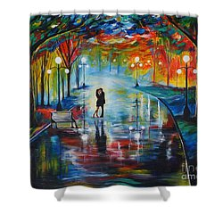 Your Love Shower Curtain by Leslie Allen
