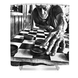 Your Move Dad Bw Art Shower Curtain by Lesa Fine