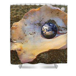 Shower Curtain featuring the digital art Your Oyster by Shelli Fitzpatrick