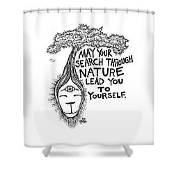Your Search Through Nature Tree Drawing Shower Curtain
