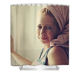 Your Sorrow Shows Shower Curtain by Laurie Search
