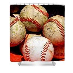 Youth Baseball 6 Shower Curtain