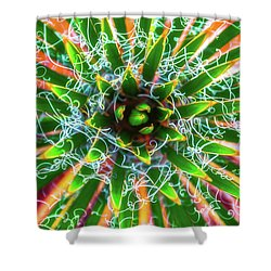 Yucca Sunrise Shower Curtain by Darren White