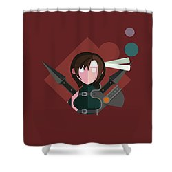 Shower Curtain featuring the digital art Yuffie by Michael Myers