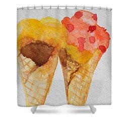 Yum Yum Shower Curtain by Betty-Anne McDonald