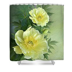 Yumi Itoh Peony Shower Curtain by Thanh Thuy Nguyen