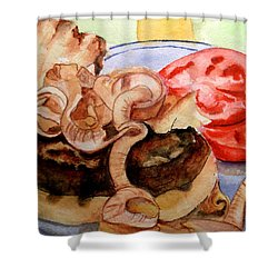 Yummy Fried Onion Burger Shower Curtain