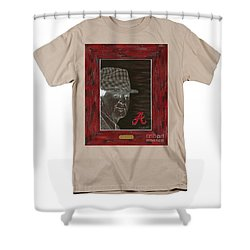 Bear Bryant  Shower Curtain by Herb Strobino