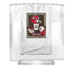 Dawgs Poster Shower Curtain by Herb Strobino