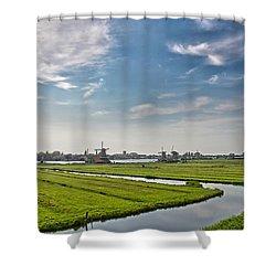 Zaandam Polders Shower Curtain