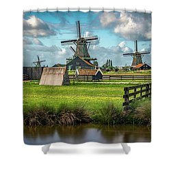 Zaanse Schans And Farm Shower Curtain by James Udall