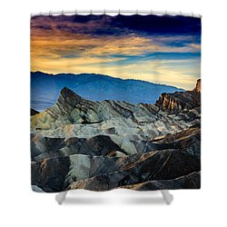 Zabriskie Point At Sundown Shower Curtain