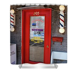 Zacs Barber Shop Shower Curtain