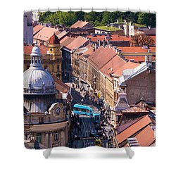 Zagreb Afternoon Shower Curtain by Rae Tucker