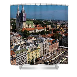 Zagreb Shower Curtain by Rae Tucker