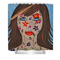 Zahir - Contemporary Woman Art Shower Curtain